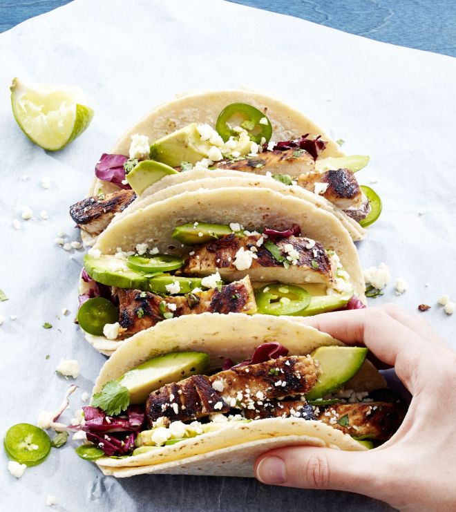 tequila chicken taco