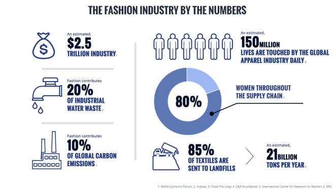 fashion waste infographic