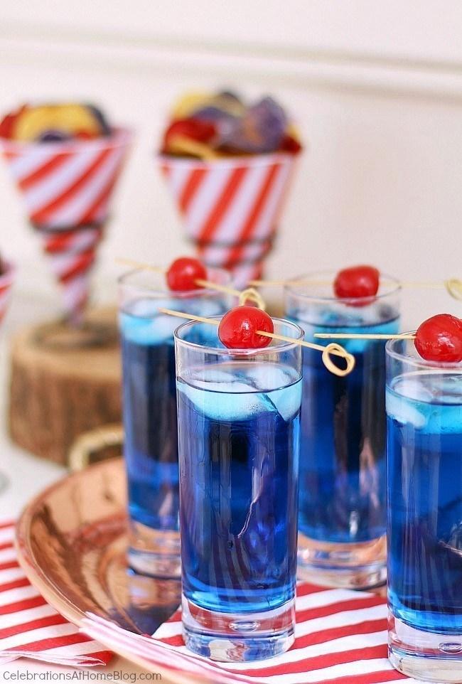 blue summer cocktail