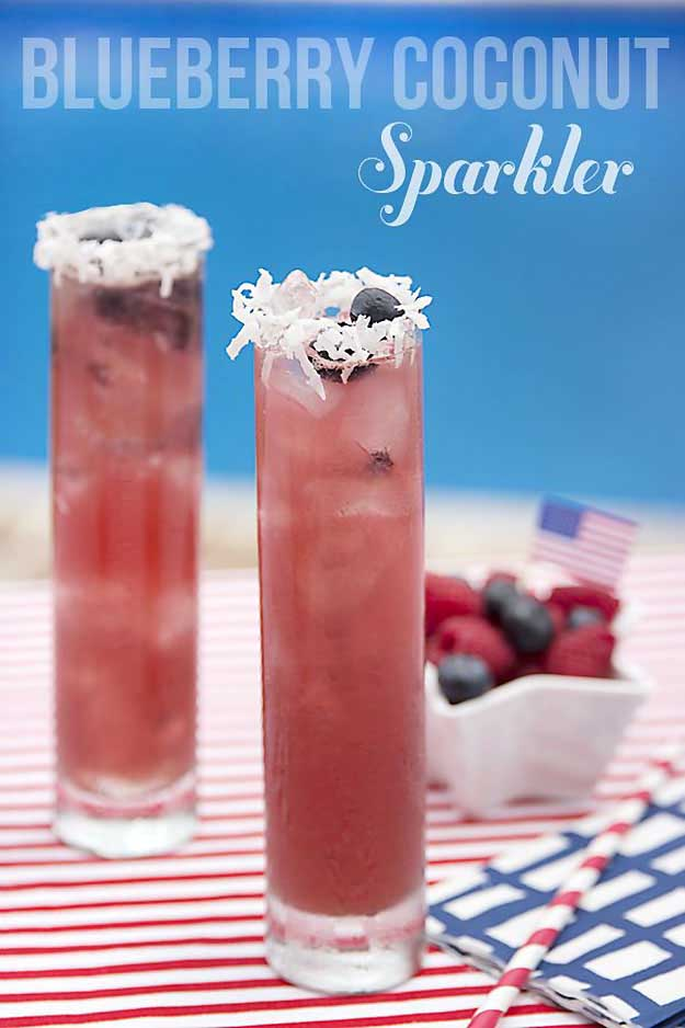 blueberry coconut sparkler